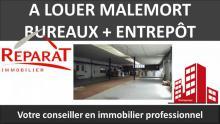 BUREAUX + ENTREPÔT 850 M² DIVISIBLES - MALEMORT